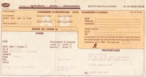 Documents Officiels Achat Ou Adoption