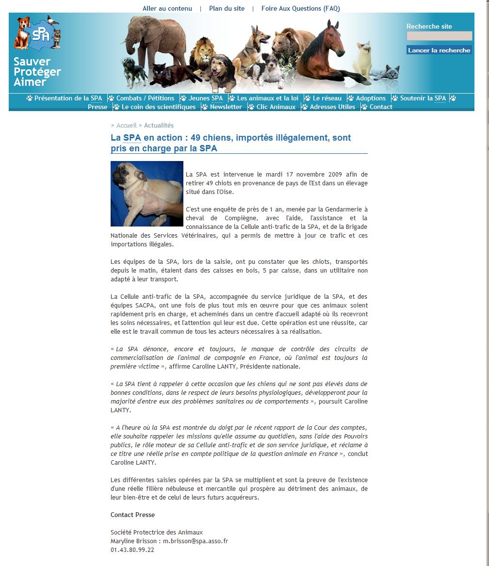 Animaux Trafic Les Dossiers Sélectionnés